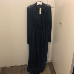 Journelle navy long robe with tags